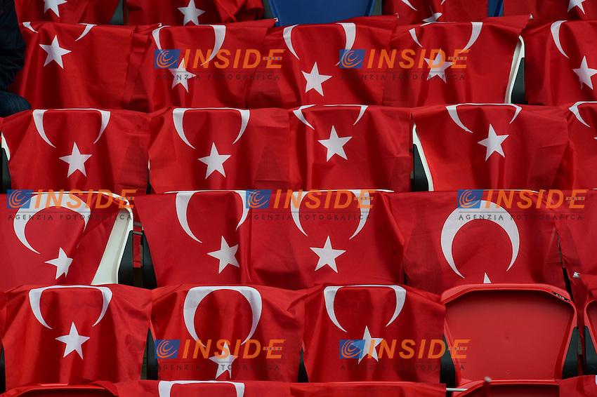 Tifosi Turchia Bandiere Supporters <br /> Paris 12-06-2016 Parc des Princes Football Euro2016 Turkey - Croatia / Turchia - Croazia Group Stage Group D. Foto Panoramic / Insidefoto