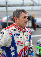 May 1, 2009; Richmond, VA, USA; NASCAR Sprint Cup Series driver Bobby Labonte during practice for the Russ Friedman 400 at the Richmond International Raceway. Mandatory Credit: Mark J. Rebilas-