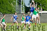 KOR's Tommy Walsh gets the jump in the Credit Union County Senior Football League Div. 1 Kerins O'Rahilys Vs Kilcummin at Strand Road GAA Ground on Friday
