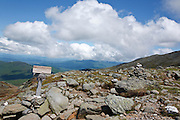 Appalachian Trail - Crawford Path near Lakes of the clouds in the White Mountains, New Hampshire USA