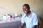 Comic relief 2015 Lenny Henry visit, november 2014<br /> <br /> Daniel odeke lab assistant 1 year in the job <br /> daniel is a lab assistant but has no one to assist - he runs the lab himself. he is smart and very proud of his job