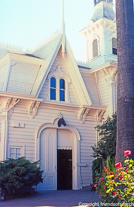 Sacramento CA: Governor's Mansion--Carraige House. Photo 2000.