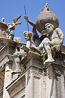 Atlantes over Iglesia de S Graca, 16th C renaissance, Evora, Portugal