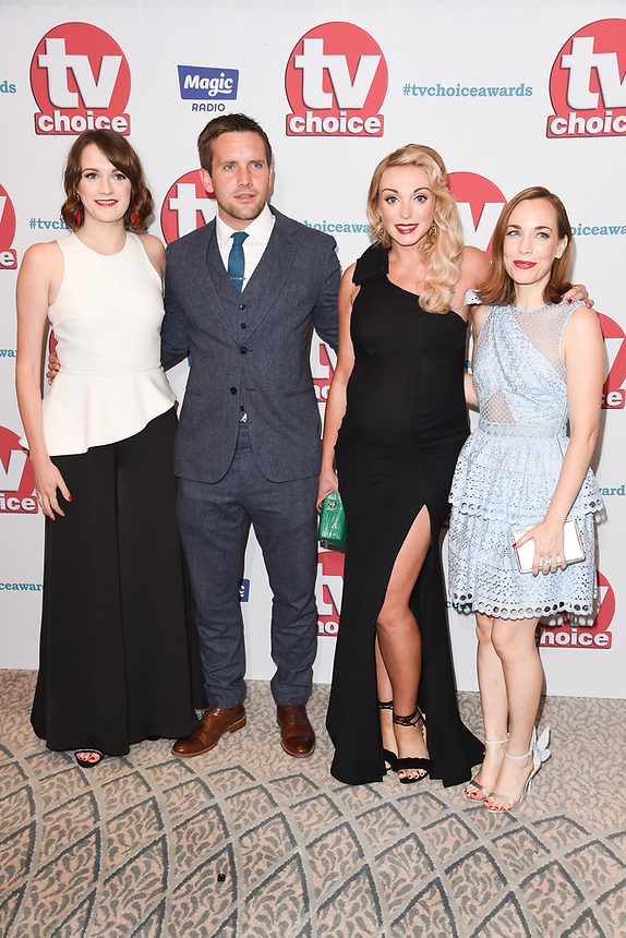 Charlotte Ritchie, Jack Ashton, Helen George and Laura Main<br /> arriving for the TV Choice Awards 2017 at The Dorchester Hotel, London. <br /> <br /> <br /> ©Ash Knotek  D3303  04/09/2017