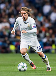 Luka Modric of Real Madrid in action during their 2016-17 UEFA Champions League match between Real Madrid vs Sporting Portugal at the Santiago Bernabeu Stadium on 14 September 2016 in Madrid, Spain. Photo by Diego Gonzalez Souto / Power Sport Images