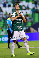 PALMIRA - COLOMBIA, 03-08-2019: Juan Ignacio Dinenno del Cali celebra después de anotar el primer gol de su equipo durante partido entre Deportivo Cali y La Equidad por la fecha 4 de la Liga Águila II 2019 jugado en el estadio Deportivo Cali de la ciudad de Palmira. / Juan Ignacio Dinenno of Cali celebrates after scoring the first goal of his team during match between Deportivo Cali and La Equidad for the date 4 as part Aguila League II 2019 played at Deportivo Cali stadium in Palmira city. Photo: VizzorImage / Nelson Rios / Cont