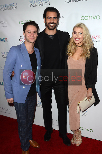 Sasha Farber, Nyle DiMarco, Emma Slater<br /> at the Nyle DiMarco Foundation Love &amp; Language Kickoff Campaign 2016, Sofitel Hotel, Beverly Hills, CA 11-29-16<br /> David Edwards/DailyCeleb.com 818-249-4998