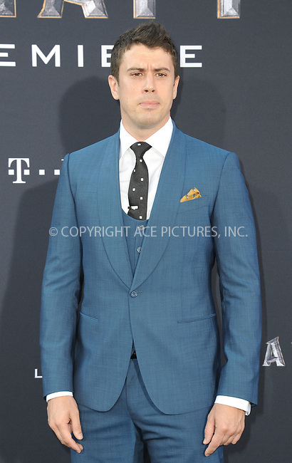 WWW.ACEPIXS.COM<br /> <br /> June 6 2016, LA<br /> <br /> Toby Kebbell arrives at the premiere of Universal Pictures' 'Warcraft' at the TCL Chinese Theatre IMAX on June 6, 2016 in Hollywood, California. <br /> <br /> <br /> By Line: Peter West/ACE Pictures<br /> <br /> <br /> ACE Pictures, Inc.<br /> tel: 646 769 0430<br /> Email: info@acepixs.com<br /> www.acepixs.com
