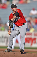 Birmingham Barons starting pitcher Nick McCully #31 delivers a pitch during a game against the Tennessee Smokies at Smokies Park on May 31, 2014 in , Tennessee. The Barons defeated the Smokies 2-1. (Tony Farlow/Four Seam Images)