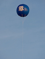 Earthquakes' balloon is pictured floating in the air during the game between Earthquakes and Sounders at Buck Shaw Stadium in Santa Clara, California on April 2nd, 2011.   San Jose Earthquakes and Seattle Sounders are tied 2-2.