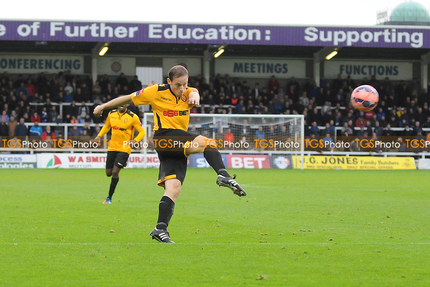 David Bryant of East Thurrock United shoots - Hartlepool United vs East Thurrock United - FA Challenge Cup 1st Round Football at Victoria Park, Hartlepool - 08/11/14 - MANDATORY CREDIT: Steven White/TGSPHOTO - Self billing applies where appropriate - contact@tgsphoto.co.uk - NO UNPAID USE