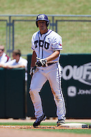 Outfielder Jerrick Suiter #31 of the Texas Christian University Horned Frogs during the NCAA Regional baseball game against the Ole Miss Rebels on June 1, 2012 at Blue Bell Park in College Station, Texas. Ole Miss defeated TCU 6-2. (Andrew Woolley/Four Seam Images)