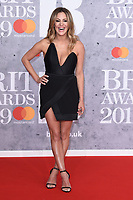 LONDON, UK. February 20, 2019: Caroline Flack arriving for the BRIT Awards 2019 at the O2 Arena, London.<br /> Picture: Steve Vas/Featureflash<br /> *** EDITORIAL USE ONLY ***