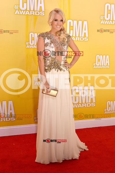 NASHVILLE, TN - NOVEMBER 1: Carrie Underwood on the Macy's Red Carpet at the 46th Annual CMA Awards at the Bridgestone Arena in Nashville, TN on Nov. 1, 2012. © mpi99/MediaPunch Inc. ***NO GERMANY***NO AUSTRIA*** .<br /> ©NortePhoto