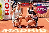 Ekaterina Makarova and Elena Vesnina, Russia, celebrate the victory in the Madrid Open Tennis 2018 WTA Doubles Final match. May 12, 2018.(ALTERPHOTOS/Acero) /NORTEPHOTOMEXICO