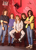 Apr 1987: HELLOWEEN  - Photosession in Hamburg Germany