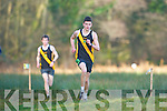 David Kavanagh Mercy Mounthawk  wins the Intermediate boys race ahead of his team mate Conor O'Mahony (left)  in the Vocational Schools Cross Country championships in Killarney on Wednesday,
