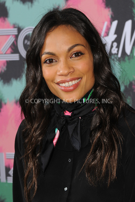 www.acepixs.com<br /> October 19, 2016  New York City<br /> <br /> Rosario Dawson attending KENZO x H&amp;M Launch Event Directed By Jean-Paul Goude at Pier 36 on October 19, 2016 in New York City.<br /> <br /> <br /> Credit: Kristin Callahan/ACE Pictures<br /> <br /> <br /> Tel: 646 769 0430<br /> Email: info@acepixs.com