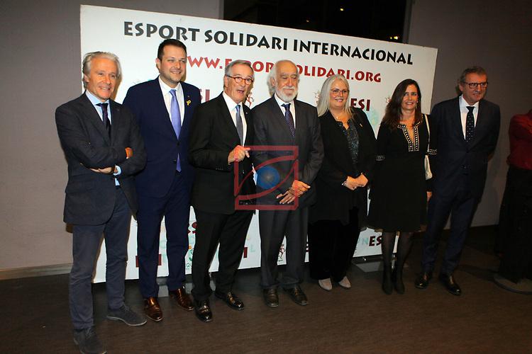 XIV Sopar Solidari de Nadal.<br /> Esport Solidari Internacional-ESI.<br /> Ramon Alfonseda, Gerard Figueras, Xavier Trias, Josep Maldonado, Maite Fandos, Maria Valles & Santi Nolla.