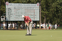 13-19 June 2005: Stanford men's golf coach Conrad Ray during the 2005 U.S. Open Championships in Pinehurst, North Carolina.