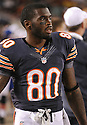 EARL BENNETT (80), of the Chicago Bears, in action during the Bears preseason game against the Denver Broncos on August 9, 2012 at Soldier Field in Chicago, IL. The Broncos beat the Bears 31-3.