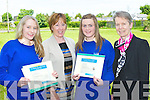 Aoife Cooper who received the Orla Benson award for being student of the year at the St Bridgid's Secondary Killarney annual awards in the school gym on Thursday l-r:  Elizabeth Fuller (Humanitarium award winner), Mary O'Rourke (deputy Principal), Aoife Cooper and Margaret McCormack (Principal)