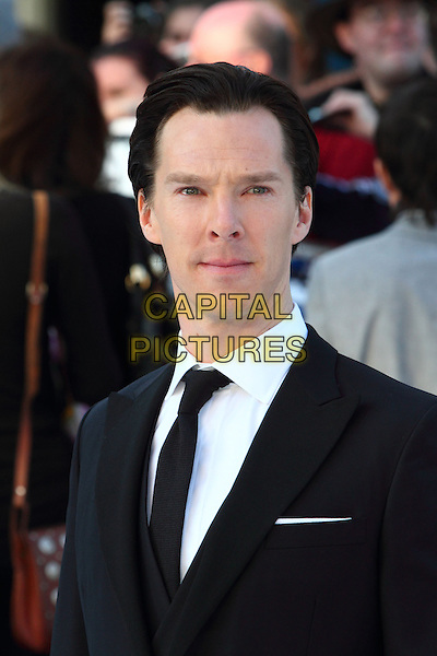 Benedict Cumberbatch.Attending the 'Star Trek Into Darkness 3D' World Premiere at the Empire cinema Leicester Square, London, England, UK, .May 2nd 2013..portrait headshot black suit tie dyed hair white shirt roots  .CAP/ROS.©Steve Ross/Capital Pictures