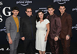 Joe Jonas, Paul Kevin Jonas Sr., Denise Miller-Jonas, Nick Jonas, and Kevin Jonas 117 arrives at the Premiere Of Amazon Prime Video's Chasing Happiness at Regency Bruin Theatre on June 03, 2019 in Los Angeles, California.