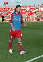 18 July 2012: Toronto FC midfielder Torsten Frings #22 walks off the pitch after warm-up during an MLS game between the Colorado Rapids and Toronto FC at BMO Field in Toronto, Ontario..Toronto FC won 2-1..