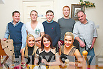 Dining in Bella Bia,Tralee for New years eve last Monday night were(seated)L-R Laura Flaherty,Claire McEvoy&Leonie Flaherty(back)L-r James Brennan,Kerry Fleming,Conor Peters,Shane Durron with Brendan McEvoy.