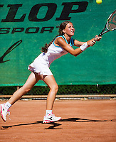 05-08-13, Netherlands, Dordrecht,  TV Desh, Tennis, NJK, National Junior Tennis Championships, Anouk van Hoek   Ivana Milosecic<br /> <br /> <br /> Photo: Henk Koster