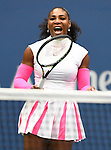 Sep 05 2016:  Serena Williams (USA) wins again at the US Open being played on  at Billy Jean King National Tennis Center in Flushing, Queens, New York, USA  ©Leslie Billman/EQ