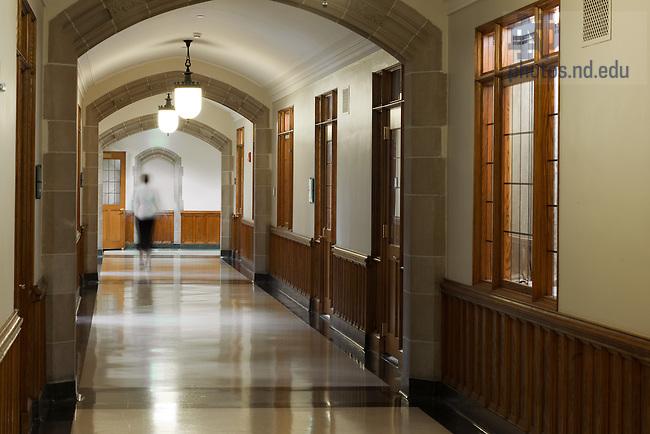 Main corridor in Biolchini Hall...Photo by Matt Cashore/University of Notre Dame