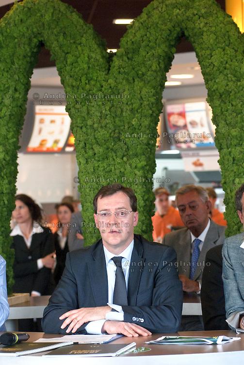 Lainate (VA).<br /> Roberto Masi, Amministratore Delegato di McDonald's Italia.