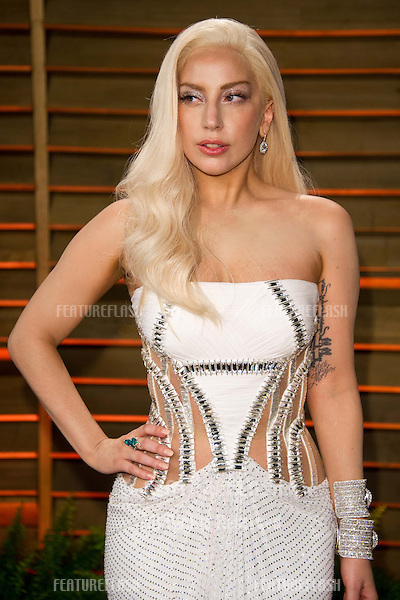 Lady Gaga arriving for the 2014 Vanity Fair Oscars Party, Los Angeles. 02/03/2014 Picture by: James McCauley/Featureflash