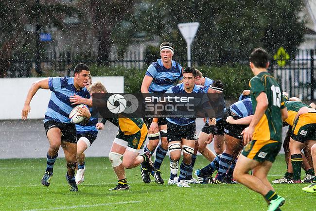 Press Cup:  Waimea College v Nelson College. Trafalgar Park, Nelson, New Zealand. Thursday 7 August 2014. <br /> Photo: Marc Palmano/shuttersport.co.nz