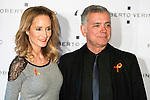 "Juan Ramon Lucas and Sandra Ibarra during the presentation of the new Spring-Summer collection ""Un Balcon al Mar"" of Roberto Verino at Platea in Madrid. March 16, 2016. (ALTERPHOTOS/Borja B.Hojas)"