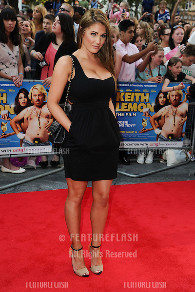 """Lucy Pinder arriving for the premiere of """"Keith Lemon: The Film"""" at the Vue Cinema, Leicester Square, London. 21/08/2012. Picture by: Steve Vas / Featureflash"""