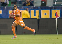 Puerto Rico Islanders Nicholas Addlery (11) starts the celebration after scoring a goal. The Puerto Rico Islanders defeated the LA Galaxy 4-1 during CONCACAF Champions League group play at Home Depot Center stadium in Carson, California on Tuesday July 27, 2010.
