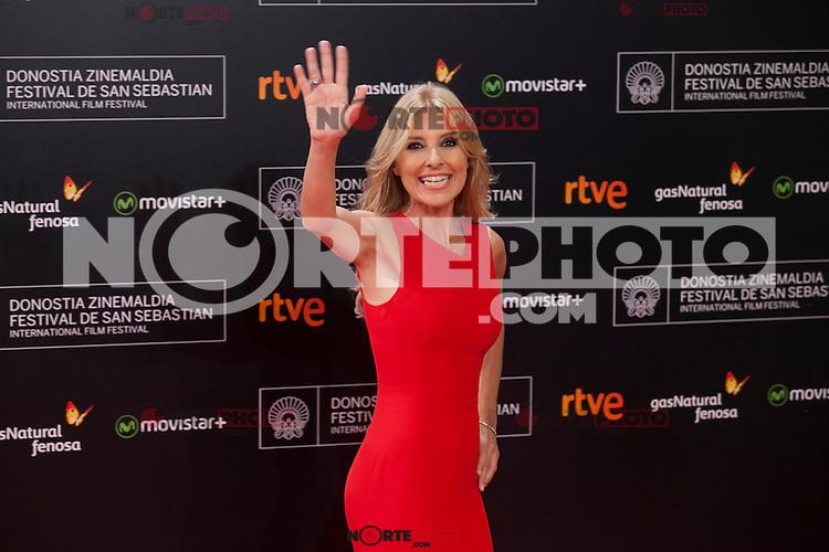 Cayetana Guillen Cuervo poses before 63rd Donostia Zinemaldia opening ceremony (San Sebastian International Film Festival) in San Sebastian, Spain. September 18, 2015. (ALTERPHOTOS/Victor Blanco) /NortePhoto.com
