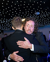 Picture by Allan McKenzie/SWpix.com - 05/10/17 - Cricket - Yorkshire County Cricket Club Gala Dinner 2017 - Elland Road, Leeds, England - Ryan Sidebottom thanks Ben Coad,