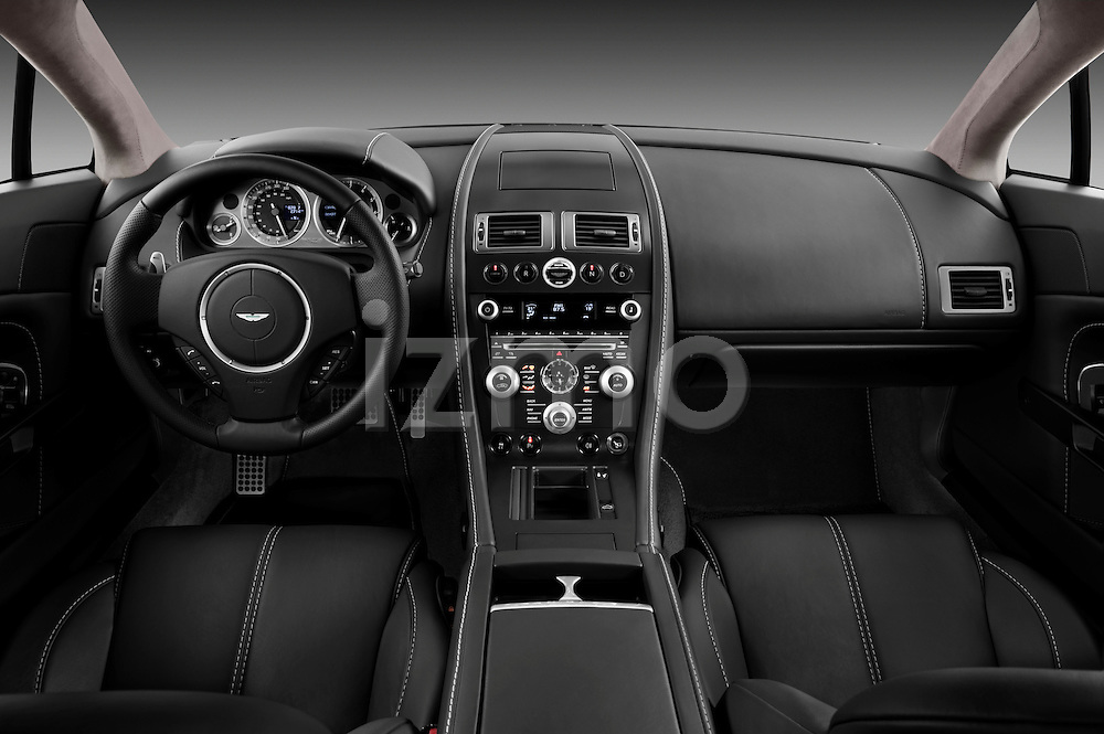 Straight dashboard view of a 2007 - 2009 Aston Martin Vantage V8 Roadster Coupe.
