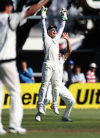 Brendon McCullum appeals during day one of the 3rd test between the New Zealand Black Caps and India at Allied Prime Basin Reserve, Wellington, New Zealand on Friday, 3 April 2009. Photo: Dave Lintott / lintottphoto.co.nz
