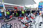 Enjoying a stop in Cahersiveen on Sunday the Mid Kerry Honda 50 Club as the completed their tour of the Ring of Kerry.