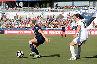 Cary, North Carolina  - Saturday June 03, 2017: Kristen Hamilton and Christina Gibbons during a regular season National Women's Soccer League (NWSL) match between the North Carolina Courage and the FC Kansas City at Sahlen's Stadium at WakeMed Soccer Park. The Courage won the game 2-0.