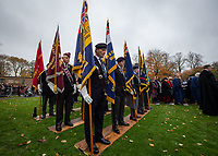 Pictured: Former members of the Armed Forces. Sunday 11 November 2018<br /> Re: Commemoration for the 100 years since the end of the First World War on Remembrance Sunday at York Minster, England, UK