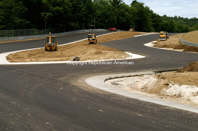 LAKEVILLE, CT- 02 JULY 2008 --070208JS04-Teh new uphill section of Lime Rock Park in Lakeville is nearly complete. <br /> Jim Shannon / Republican-American