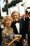 Kirk Douglas, American actor and his wife. Cannes Film Festival France 1980..