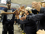 These are photos of three days of celebration and reaction to the UConn men and women basketball teams winning the National Titles. For purchase of any photos please go to Journal Inquirer / photos and select the albums that are clearly identified.