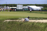 Tyrrell Hatton (ENG) chips from a bunker at the 13th green during Thursday's Round 1 of the 118th U.S. Open Championship 2018, held at Shinnecock Hills Club, Southampton, New Jersey, USA. 14th June 2018.<br /> Picture: Eoin Clarke | Golffile<br /> <br /> <br /> All photos usage must carry mandatory copyright credit (&copy; Golffile | Eoin Clarke)